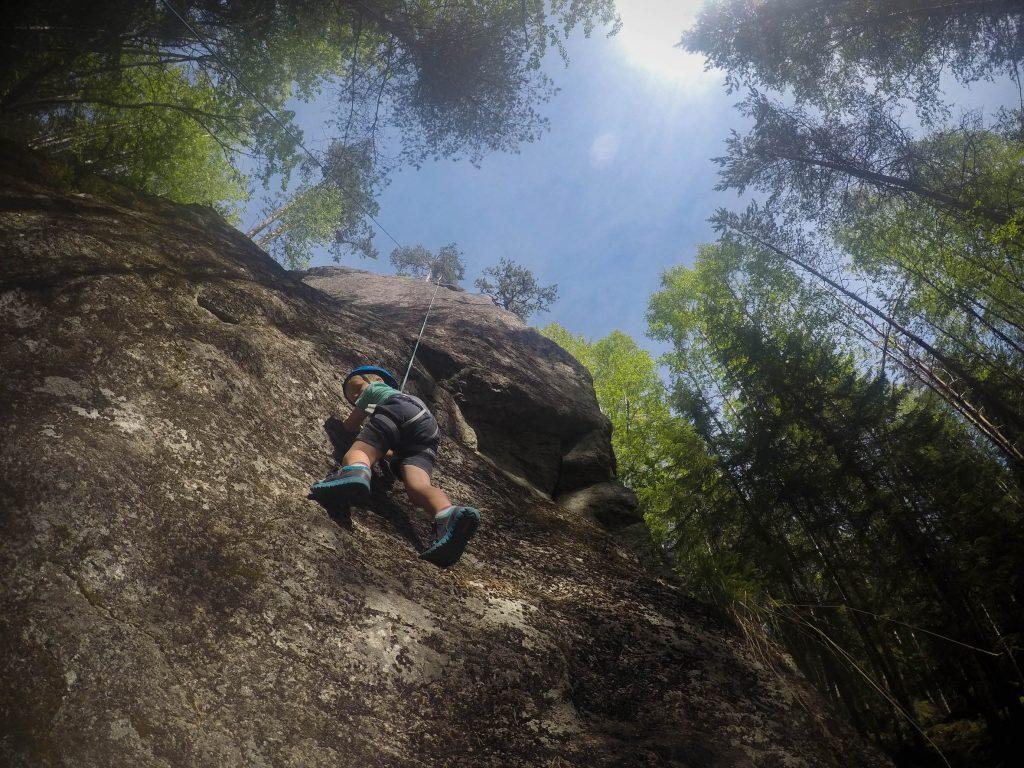 klättra med barn