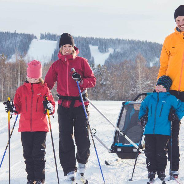 längdskidor med barn