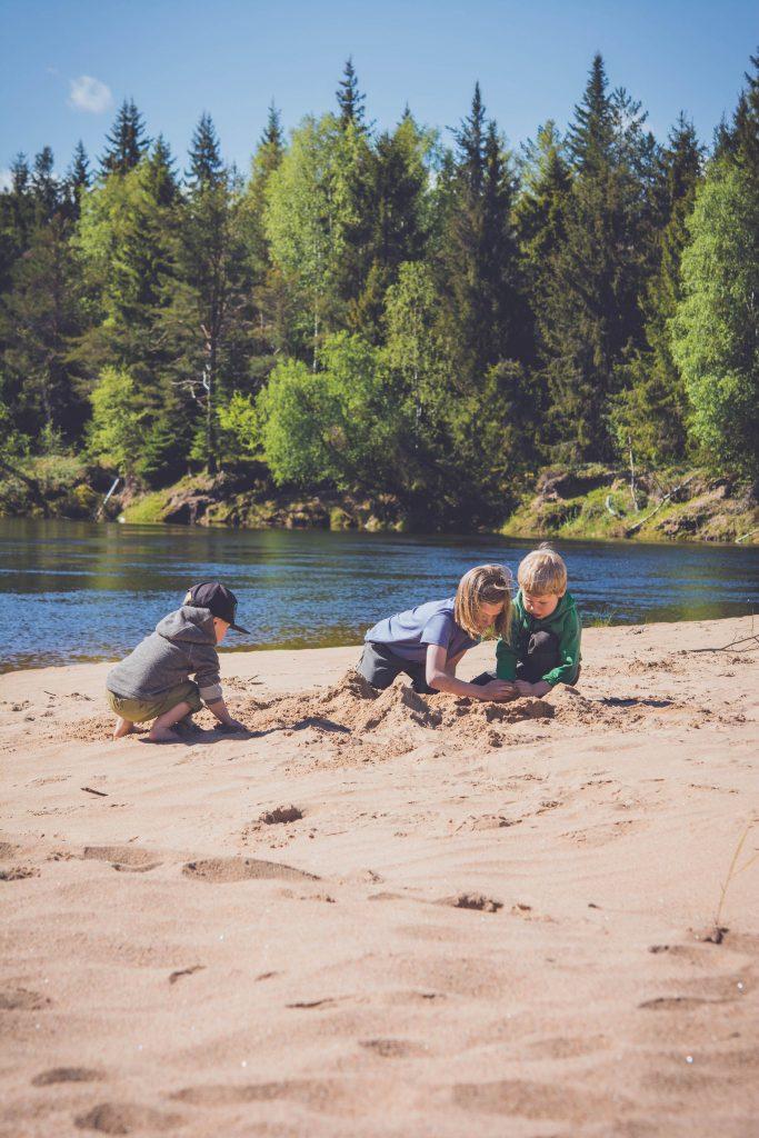 paddla kanot med barn