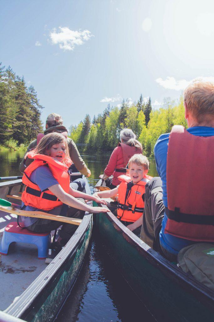 kanot paddling i voxnan